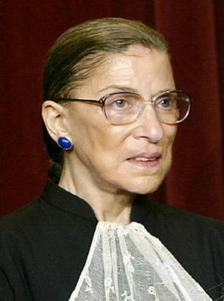 U.S. Supreme Court Associate Justice Ruth Bader Ginsburg poses   during a group portrait session with the members of the U.S. Supreme Court, at the Supreme Court Building  in Washington, Friday, Dec. 5, 2003. Former President Clinton nominated Ginsburg to her position on the high court, which she has held since Aug. 10, 1993. (AP Photo/J. Scott Applewhite)